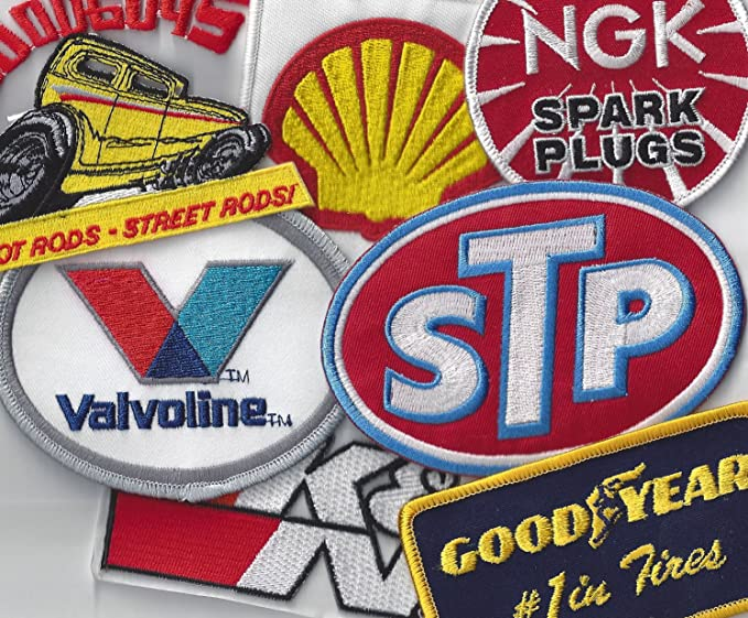 SEW or IRON ON: NGK SPARK PLUGS PATCH: MOTOR RACING OILS FUELS /& TYRES