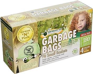 Drawstring 4 Gallon GreenNPack DSO4-120 Small Garbage Bags