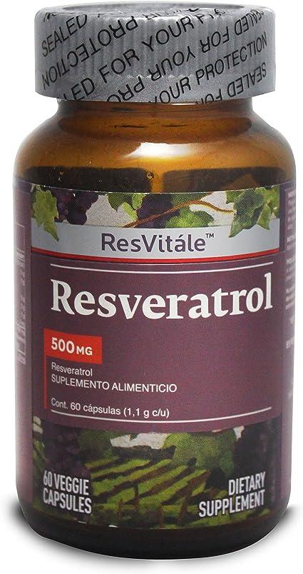 Resvitale Resveratrol 500 Mg 60 Vegetarian Capsules Amazon
