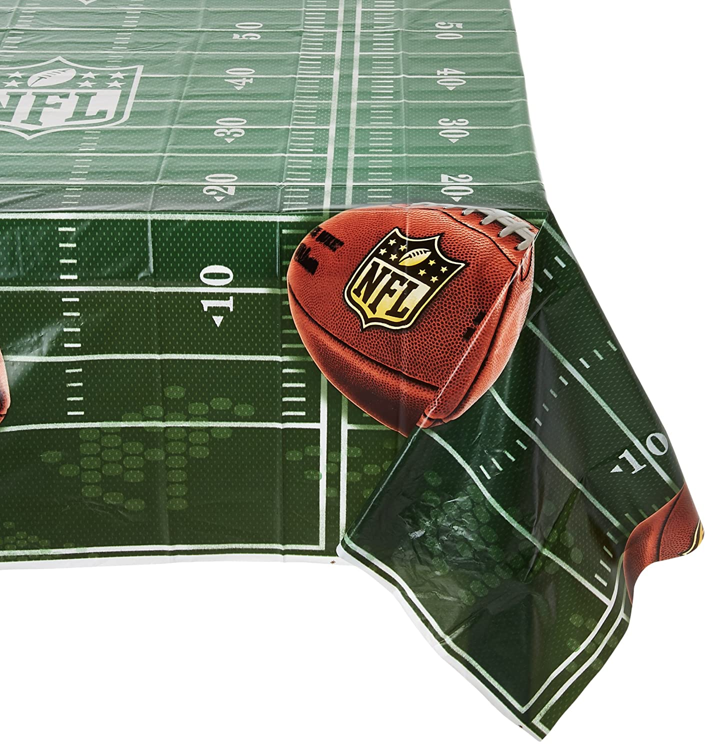 Amscan NFL Drive Collection Printed Plastic Table Cover for Party 6 Ct.