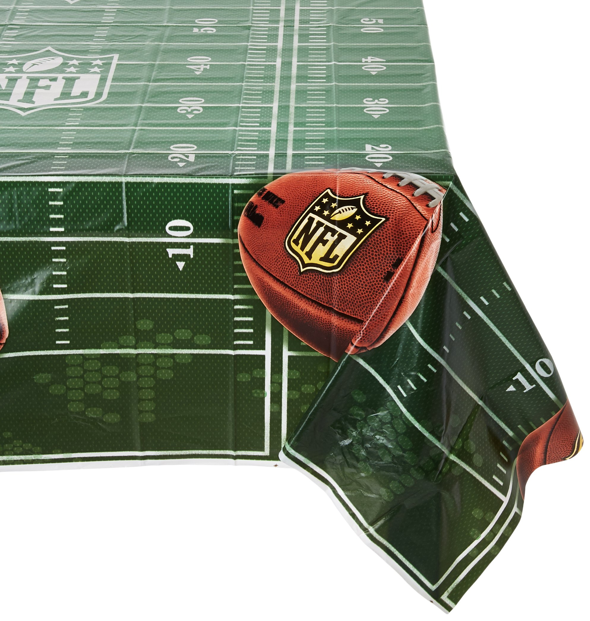 Amscan NFL Drive Theme Birthday Plastic Table Cover Party Supplies (6 Piece)