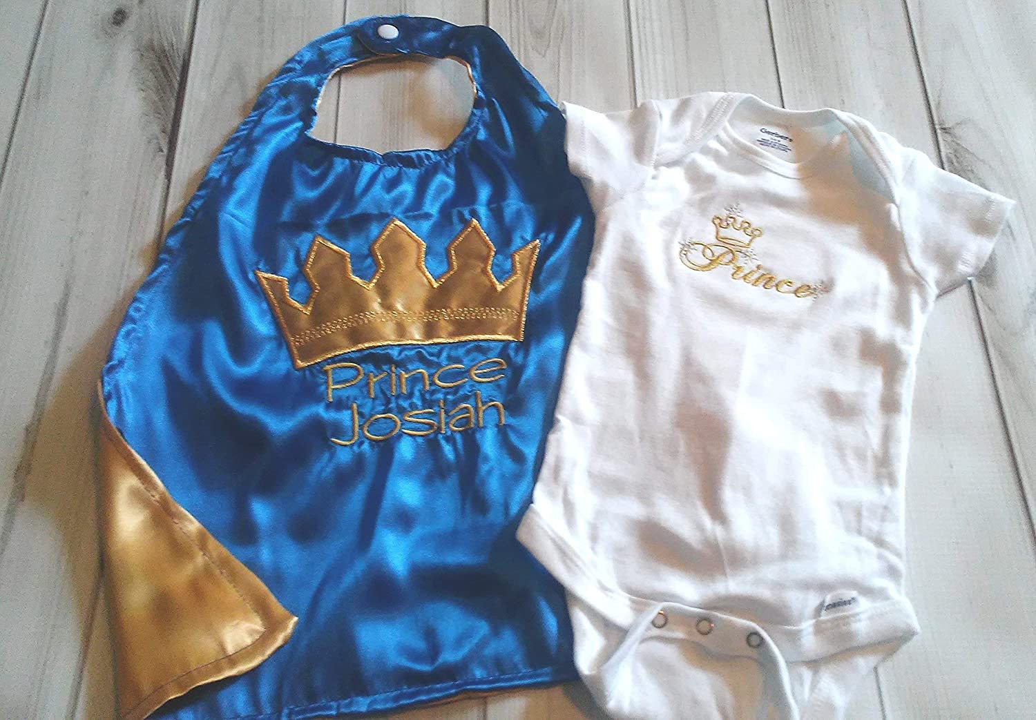 Crown Prince Embroidered Baby Patch Gift Personalised Boy