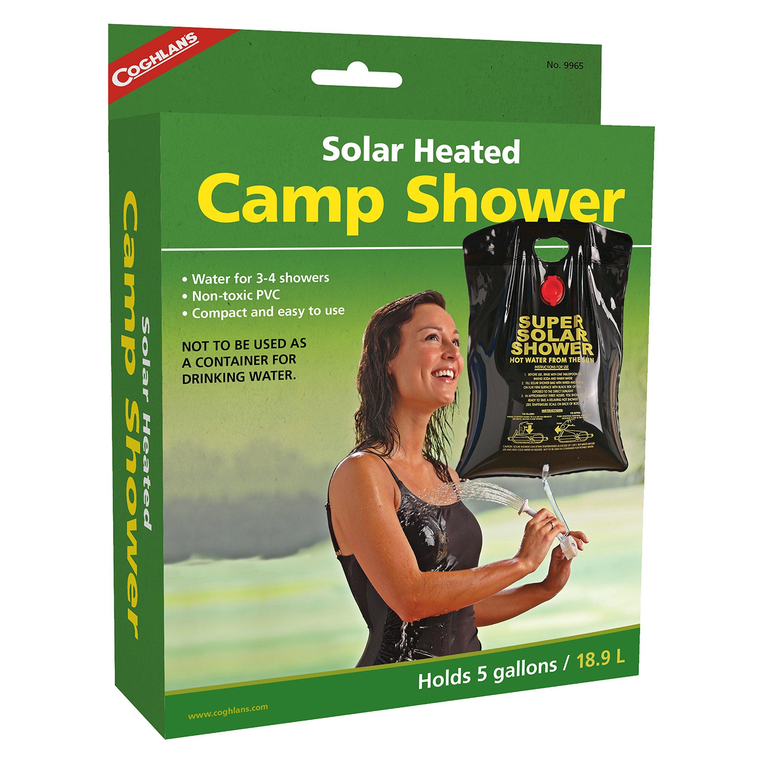 Coghlans 9965 5 Gallon Solar Heated Camp Shower