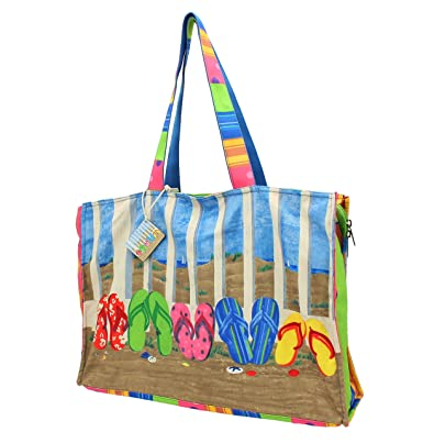 PE Florence 'Standing Flipflops' Beach Bag: Amazon.co.uk: Luggage