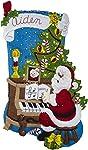 Bucilla 86941E - Kit de apliques de fieltro, diseo de Pap Noel