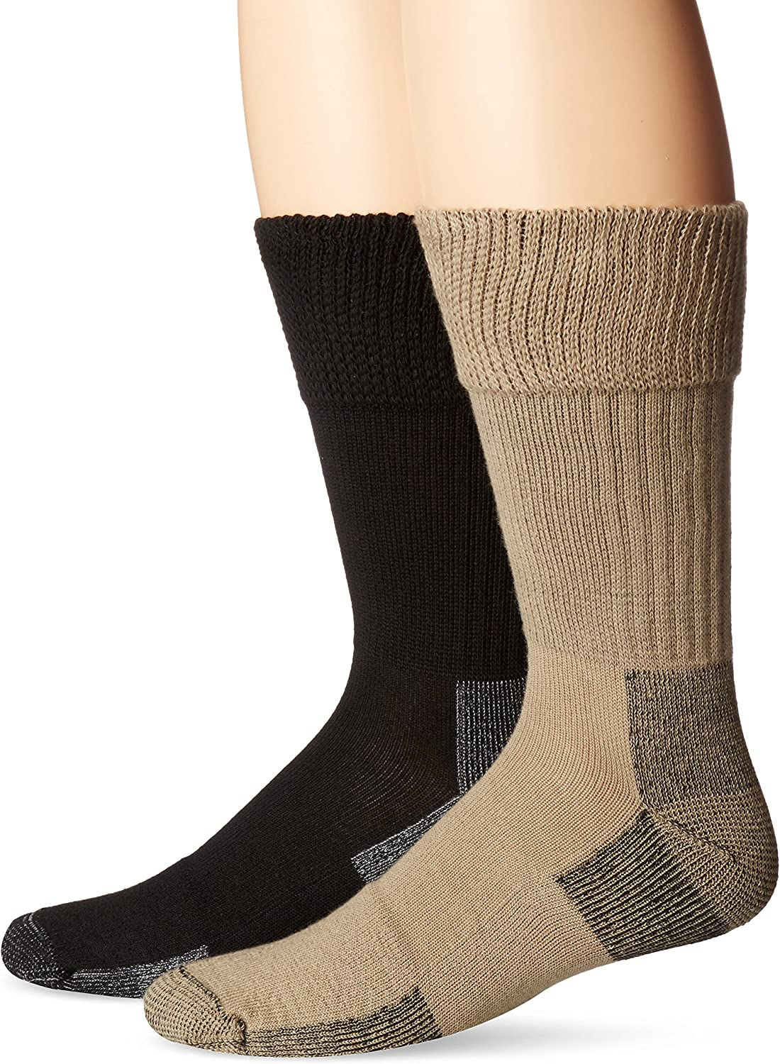 Dr. Scholl's Men's 2 Pack Non-Binding Diabetes and Circulatory Odor Resistant Crew Socks