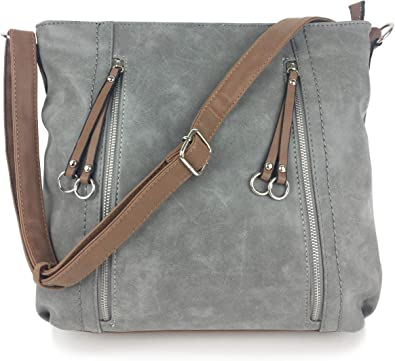 Designer Handbags For Ladies Milano Classic Italian Styled Shoulder Bag Tote Bag In Beautiful Matt Finish Vintage Faux Nu Buck Leather With Adjustable Shoulder Strap Soft Grey Amazon Co Uk Shoes Bags,Attractive Silk Saree Simple Embroidery Designs For Blouse