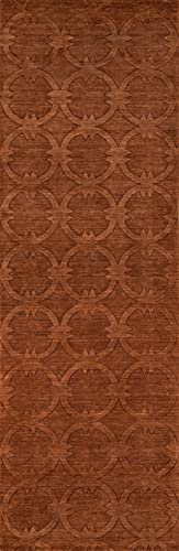Momeni Rugs Gramercy Collection, 100 Wool Hand Loomed Contemporary Area Rug, 2 6 x 8 Runner, Copper