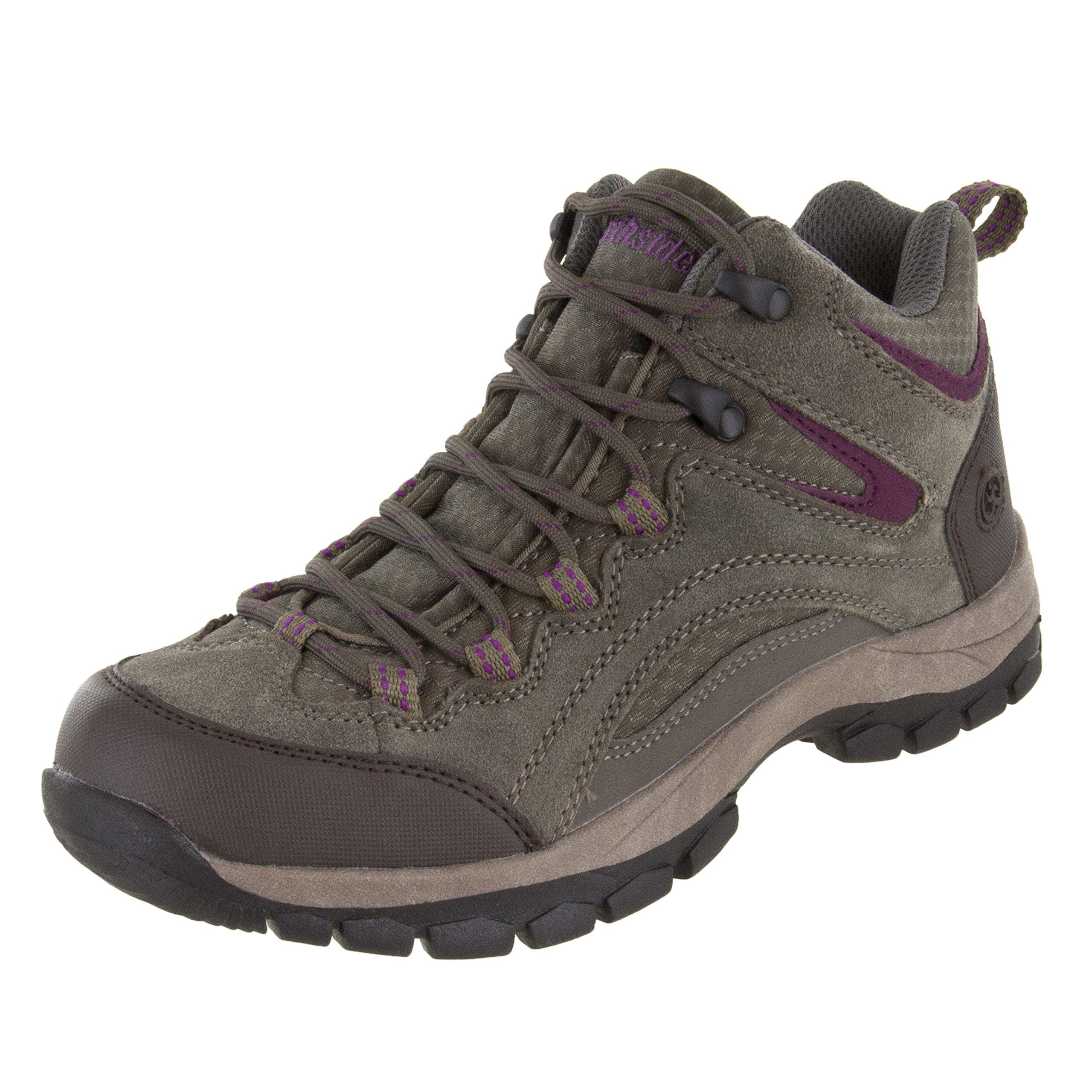 Northside Women's Pioneer Hiking Boot, Stone/Berry, 7.5 B(M) US