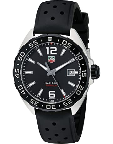 347f485f07a TAG Heuer Men's WAZ1110.FT8023 Formula 1 Stainless Steel Watch with Black  Band