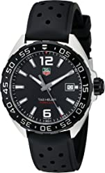 d917e21a88b TAG Heuer Men s WAZ1110.FT8023 Formula 1 Stainless Steel Watch with Black  Band