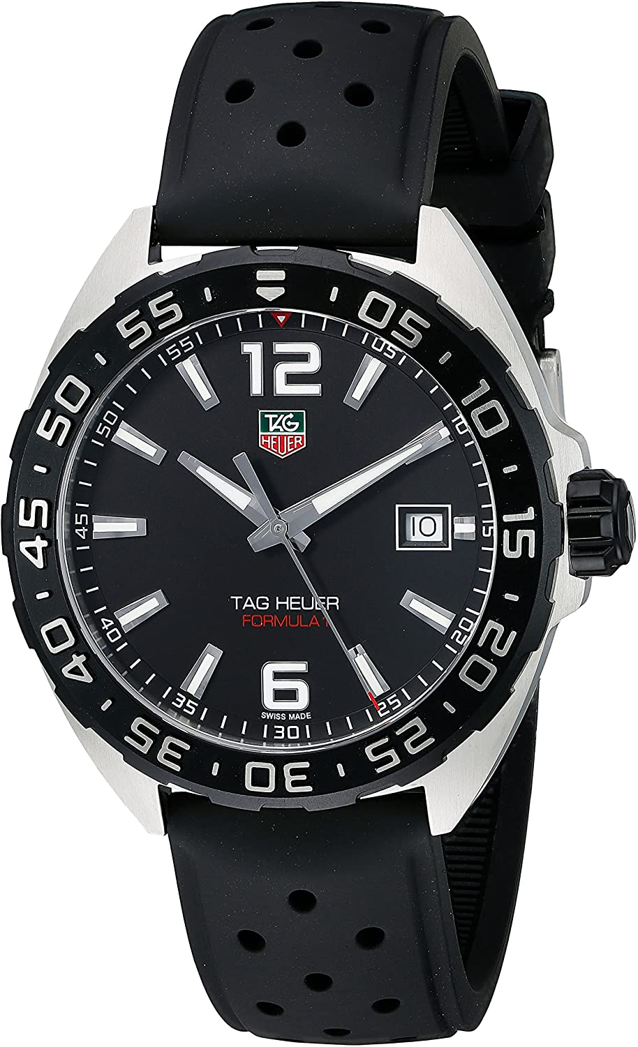 TAG Heuer Men's WAZ1110.FT8023 Formula 1 Stainless Steel Watch with Black Band