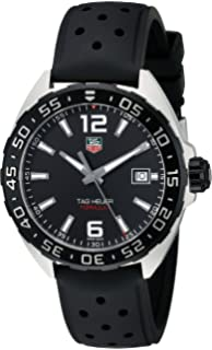 c5d9c0dd31aa TAG Heuer Men s WAZ1110.FT8023 Formula 1 Stainless Steel Watch with Black  Band
