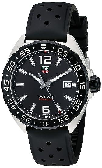 Reloj TAG Heuer Formula 1 esfera negra correa de caucho WAZ1110.FT8023: TAG Heuer: Amazon.es: Relojes