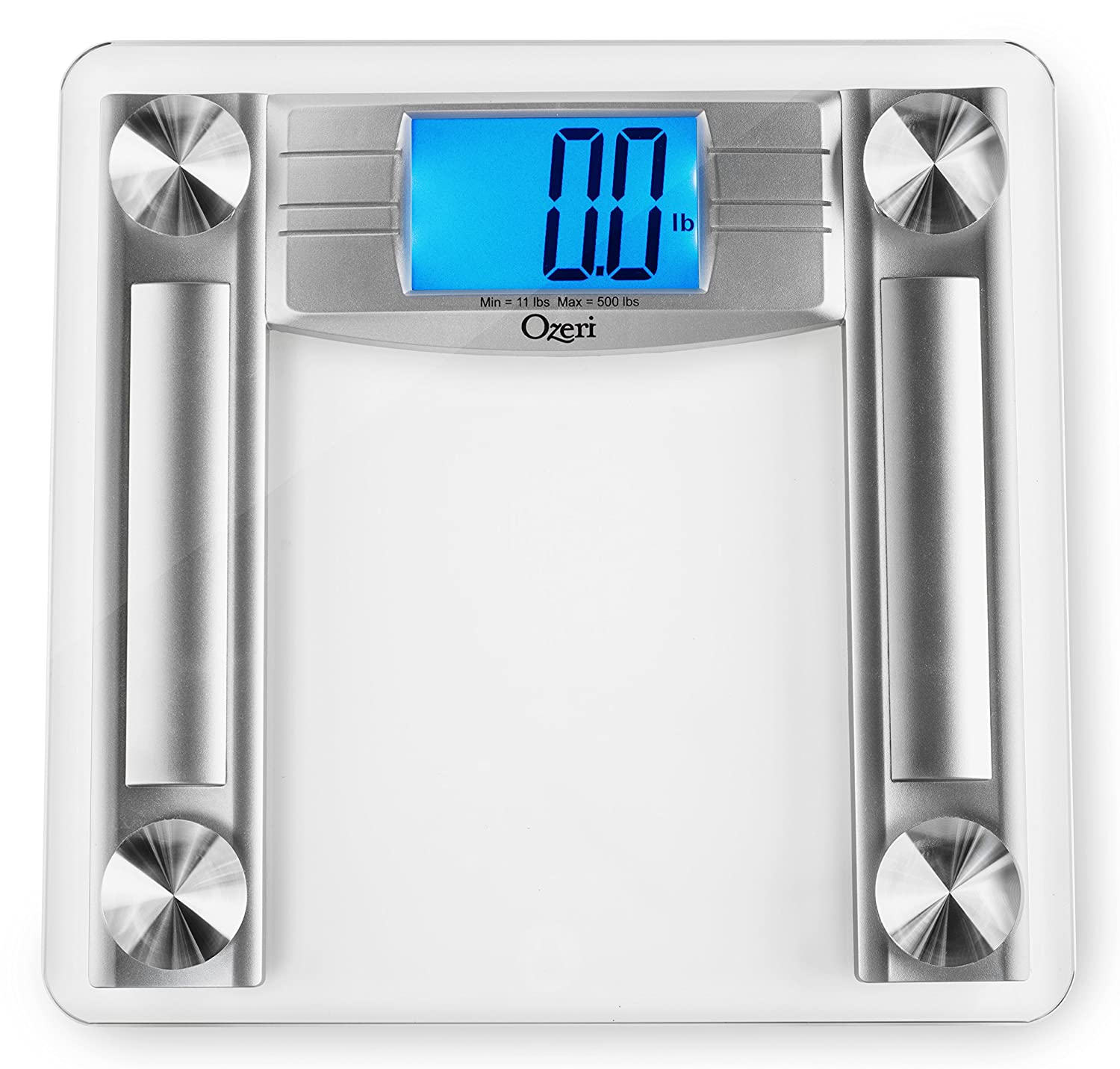 Ozeri ProMax 560 lbs 255 kg Bath Scale, with 0.1 lbs 0.05 kg Sensor Technology, and Body Tape Measure Fat Caliper