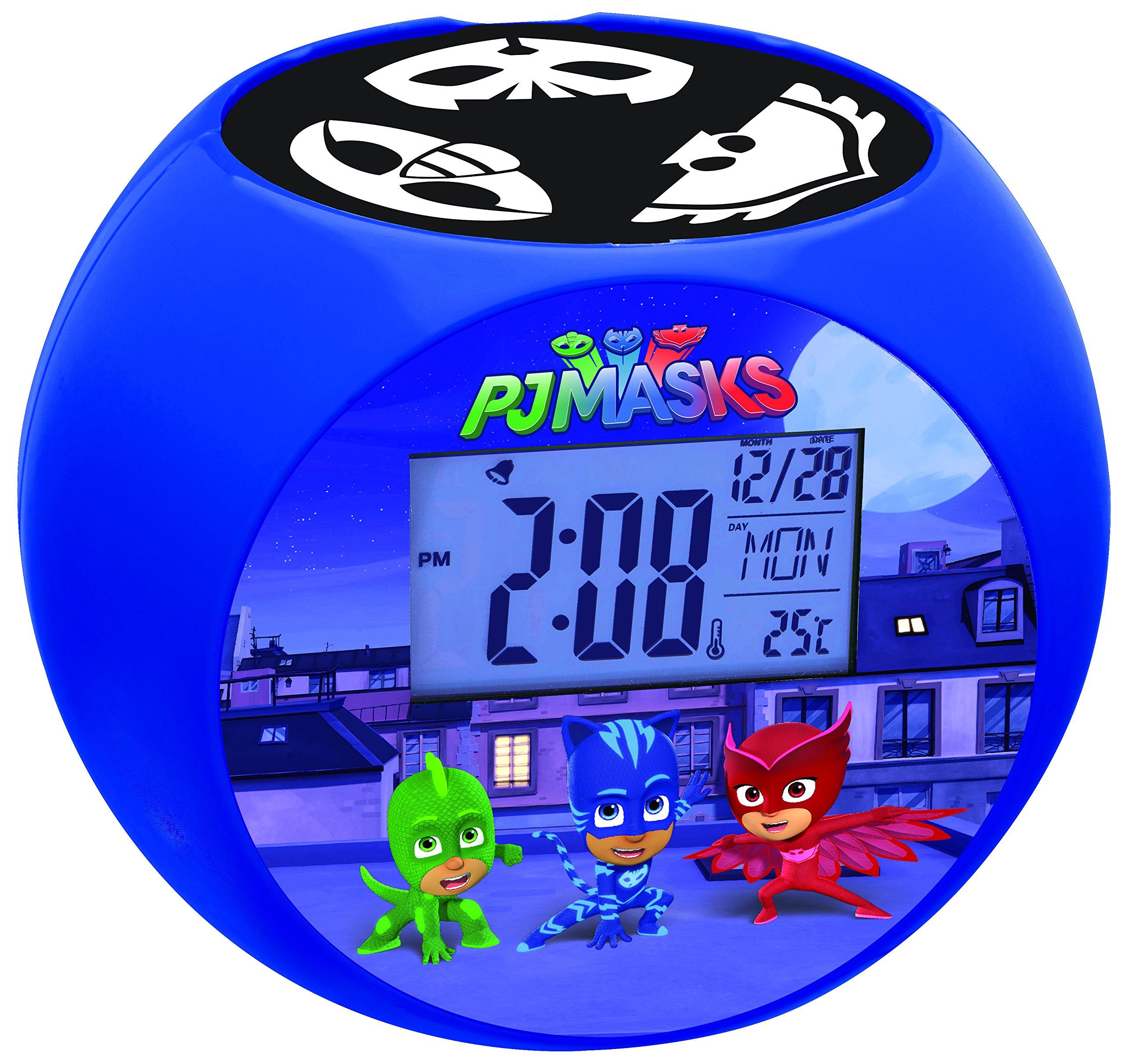 Lexibook PJ Masks Catboy Radio Projector Clock, Sound Effects, Battery-Powered, Blue/Black, RL975PJM by Lexibook