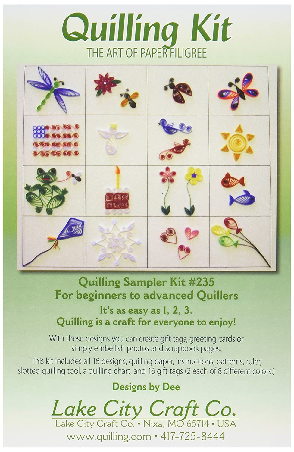 LAKE CITY CRAFT Q235 Quilling Scrapbooker's Starter Kit