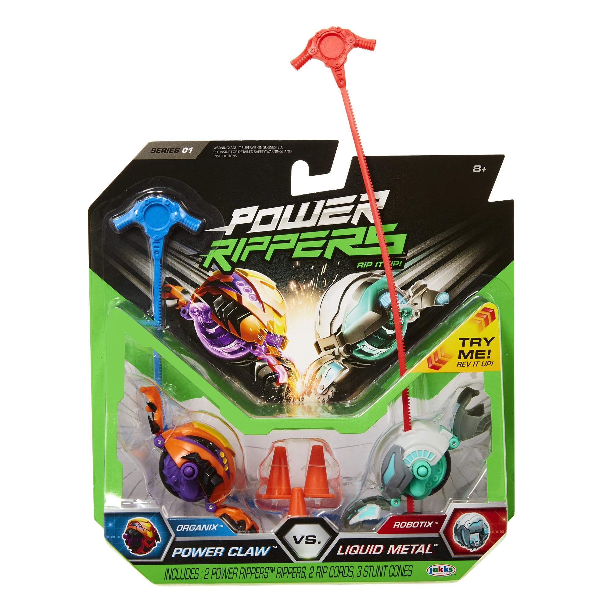 Power Rippers 2 Pack Series #1 - Power Claw Vs. Liquid Metal
