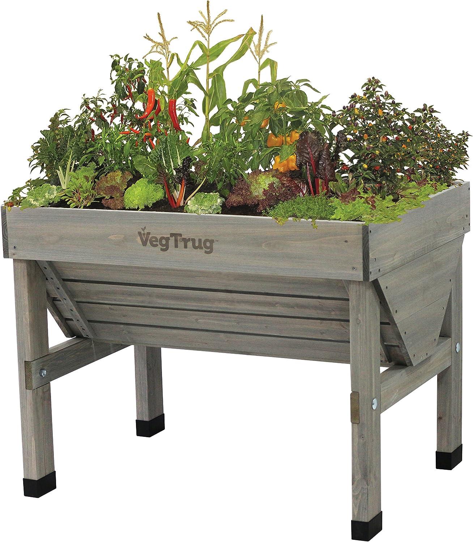 VegTrug VTGWS 0391 USA 1m Raised Planter Gray Wash