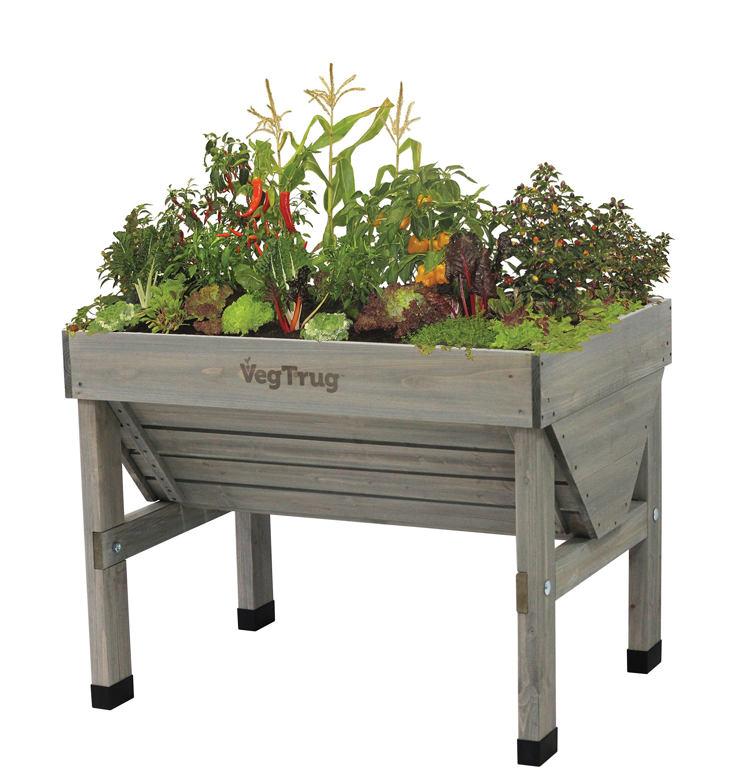 Vegtrug VTGWS 0391 USA Small Grey Wash Raised Bed Planter by Veg Trug