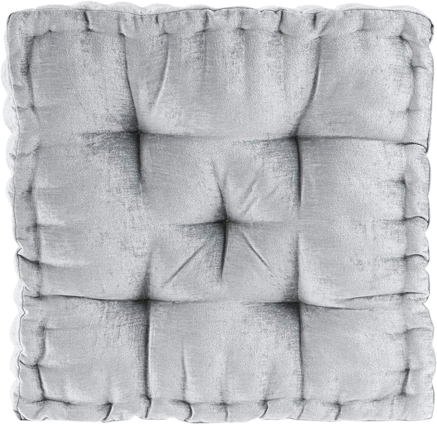 20 Grey Chenille Pillow with yellow Greek detail