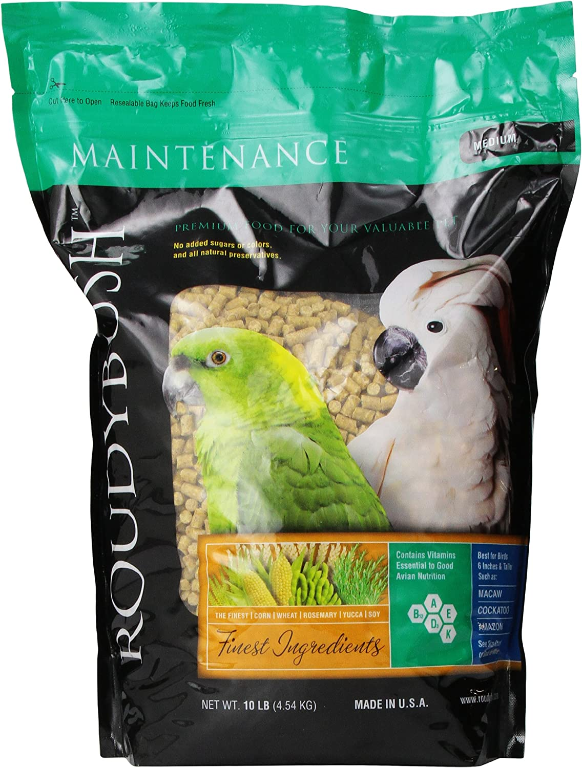 Roudybush 210Mddm Daily Maintenance Bird Food, Medium, 10-Pound