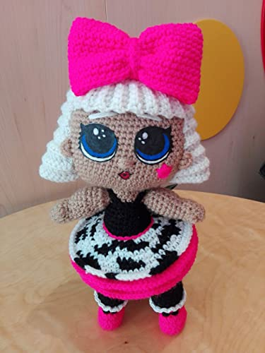 Free Crochet Pattern - Basic LOL inspired Doll Body - YouTube | 500x375