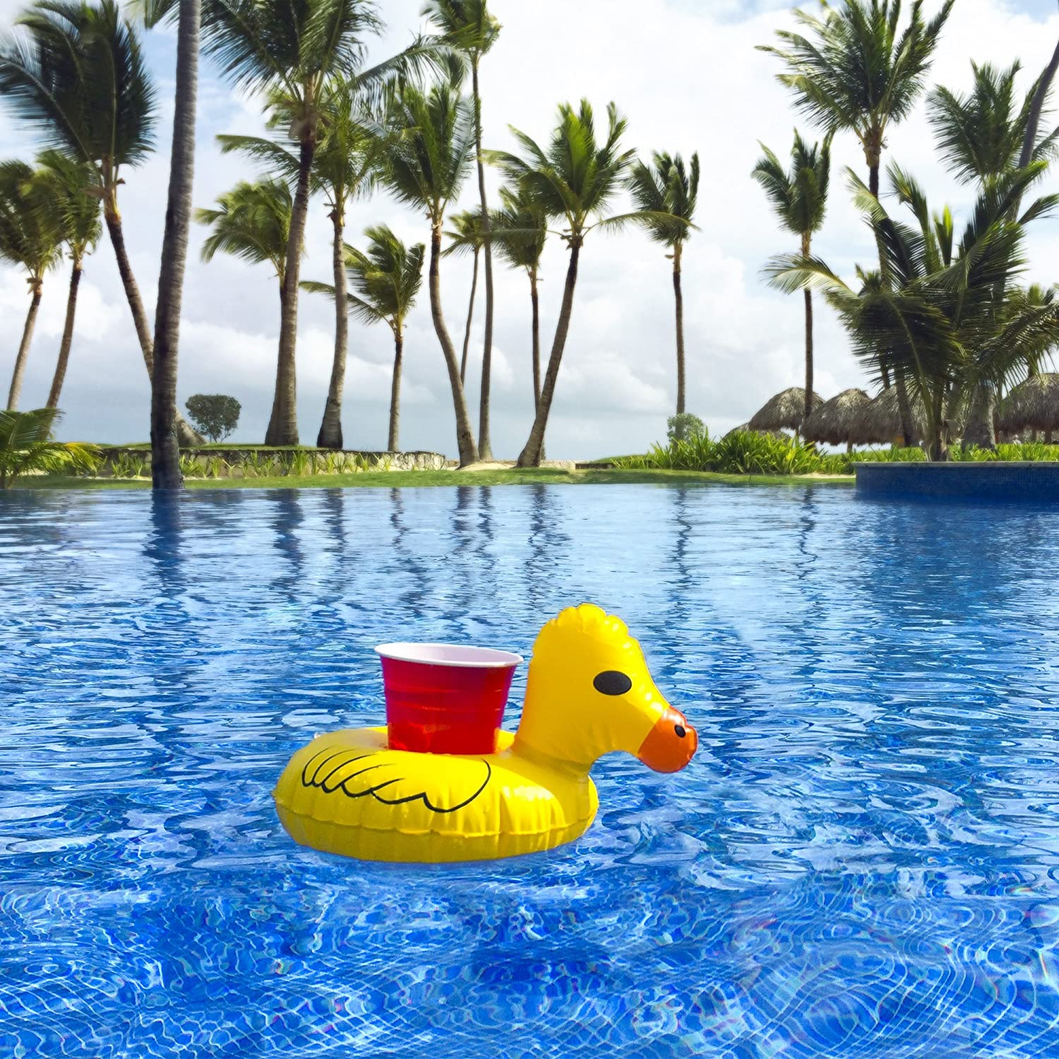 Amazon gofloats inflatable duck drink holder 3 pack float amazon gofloats inflatable duck drink holder 3 pack float your drinks in style toys games solutioingenieria Choice Image