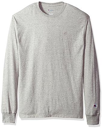 6fe2dba8ee80 Champion Mens Classic Jersey Long Sleeve Tee  Amazon.co.uk  Clothing