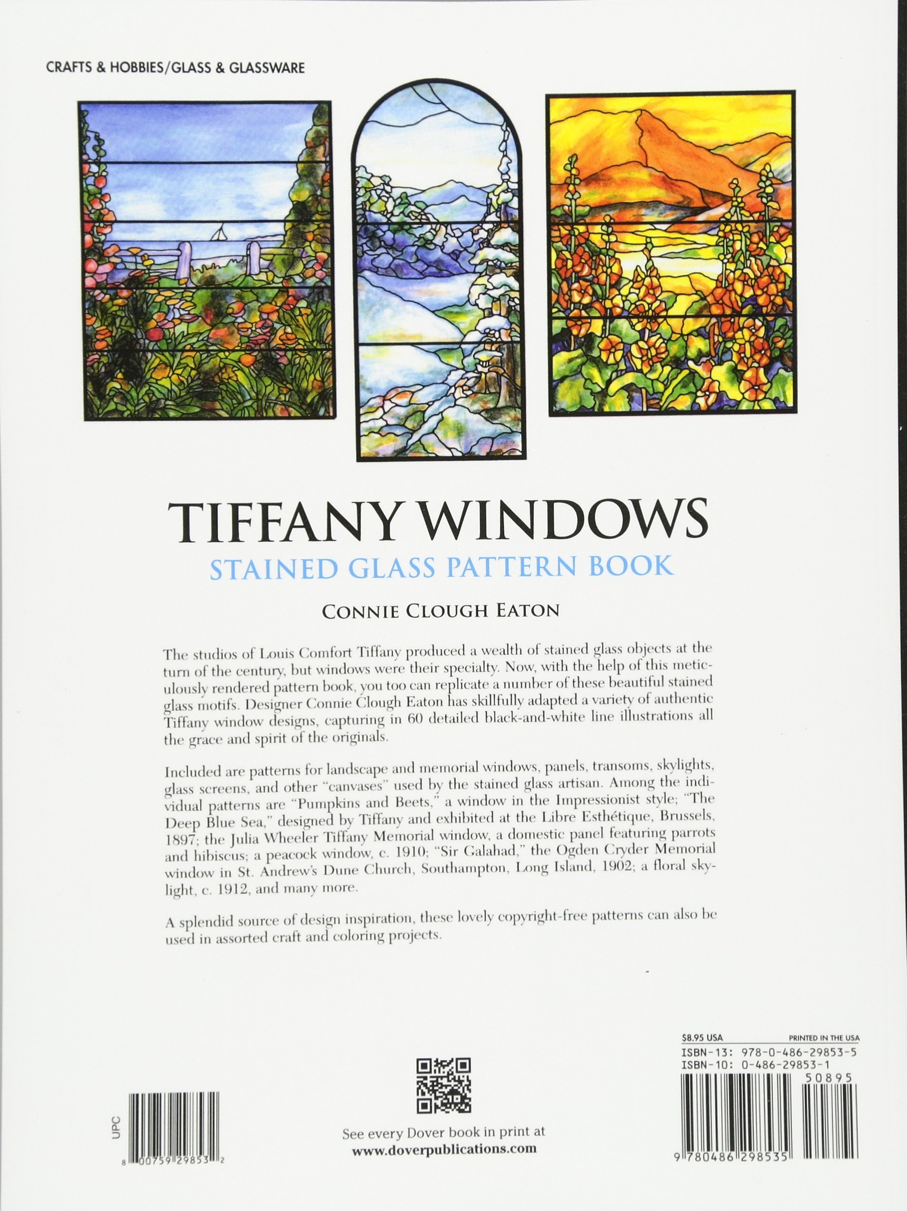Tiffany Windows Stained Glass Pattern Book Dover Pictorial Archives
