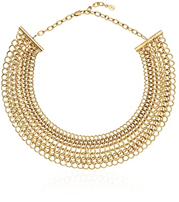 ba84468c82397 Amazon.com  Michael Kors Iconic Haute Hardware Gold-Tone Chainmail  Statement Collar Necklace