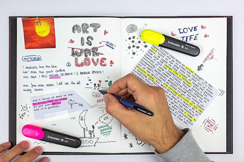 One Business Rollerball pens set assorted colours 4 pcs 0.6mm SCHNEIDER