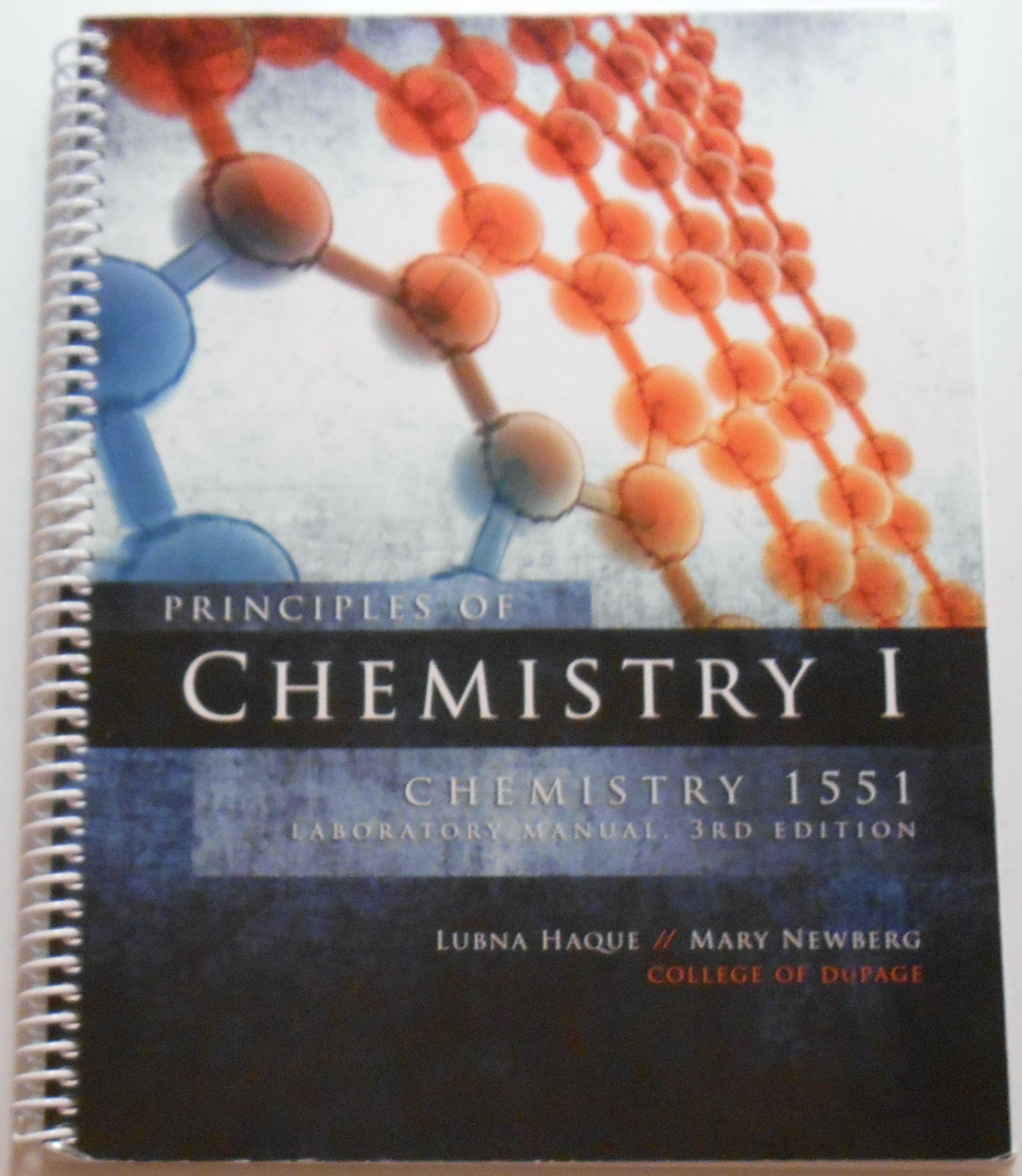 Principles of Chemistry I: Mary Newberg Lubna Haque: 9781599846002:  Amazon.com: Books