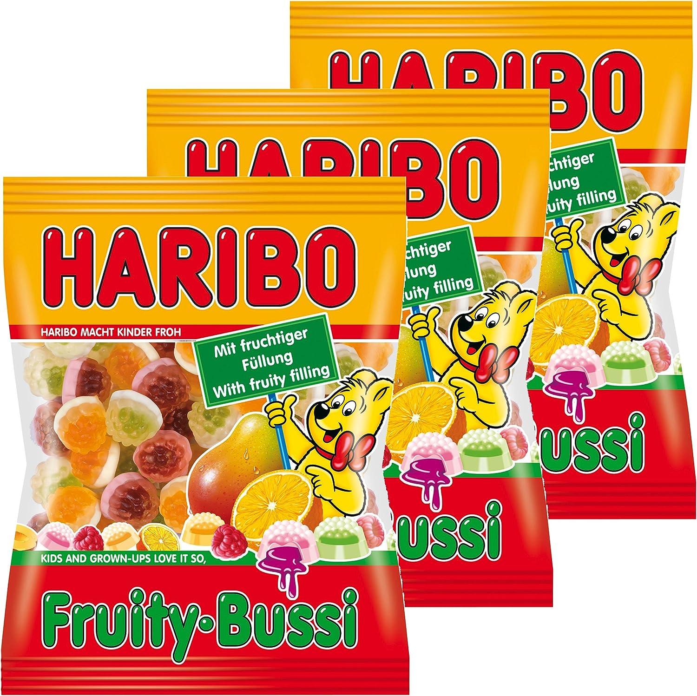 Haribo Fruity de Bussi, 3 Pack, ositos de goma, vino goma, Golosinas, en bolsa, bolsa