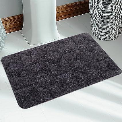 Saral Home Soft Cotton Anti Slip Bathmat (50x80cm, Grey)