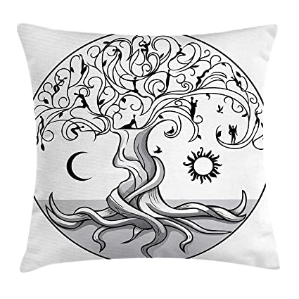 Amazon.com: Sun and Moon Throw Pillow Cushion Cover, Ancient ...