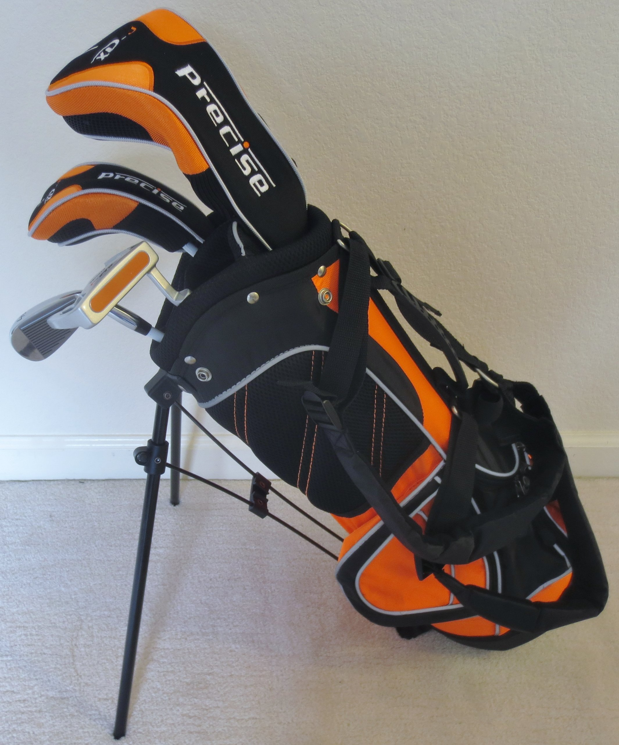 Left Handed Boys Junior Golf Club Set with Stand Bag for Kids Ages 3-6 Orange Color Premium Professional Quality by PG Golf Equipment (Image #1)