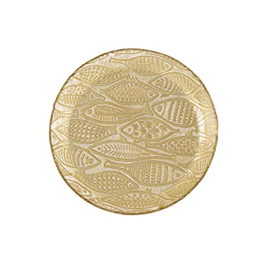 Shiraleah Large Fish Serving Platter, Gold