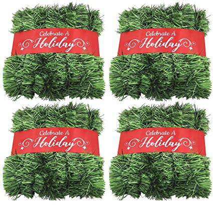 50 foot garland christmas decorations non lit soft green holiday decor outdoor indoor use