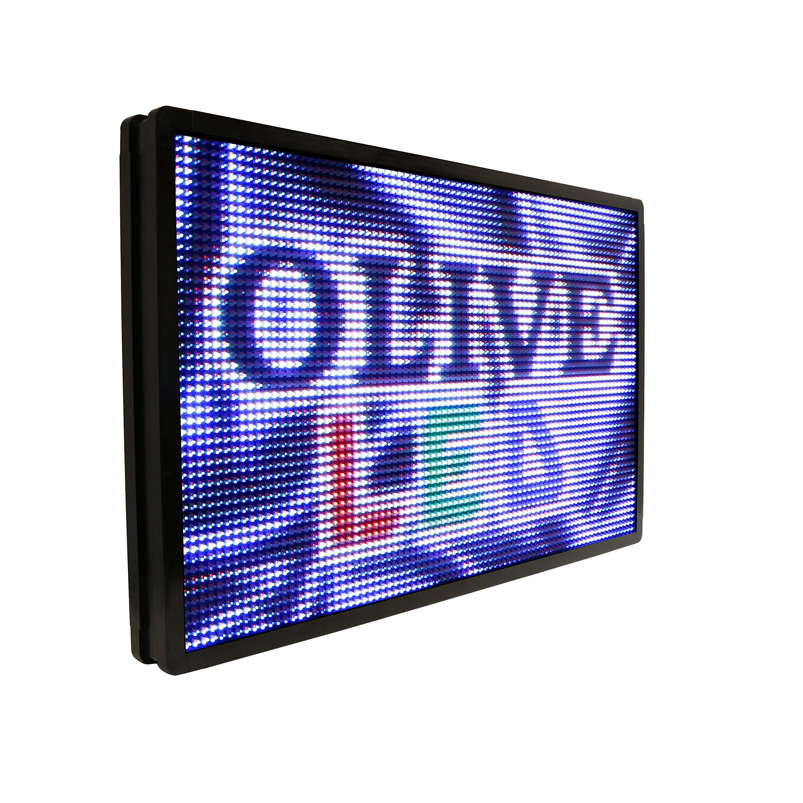 OLIVE LED Sign Full Color P26, 36''x85'' Programmable Scrolling Outdoor Message Display Signs EMC - Industrial Grade Business Ad Machine.