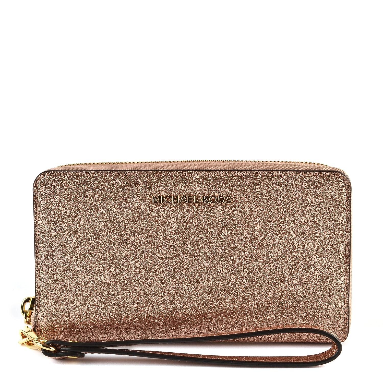 77db79604fda MICHAEL Michael Kors Large Flat Multifunction Phone Case, Color Rose Gold:  Handbags: Amazon.com