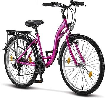 Licorne Bike Bicicleta de ciudad Stella Premium de 24,26 y 28 pulgadas, para niños, hombres y mujeres, cambio Shimano de 21 velocidades, bicicleta ...