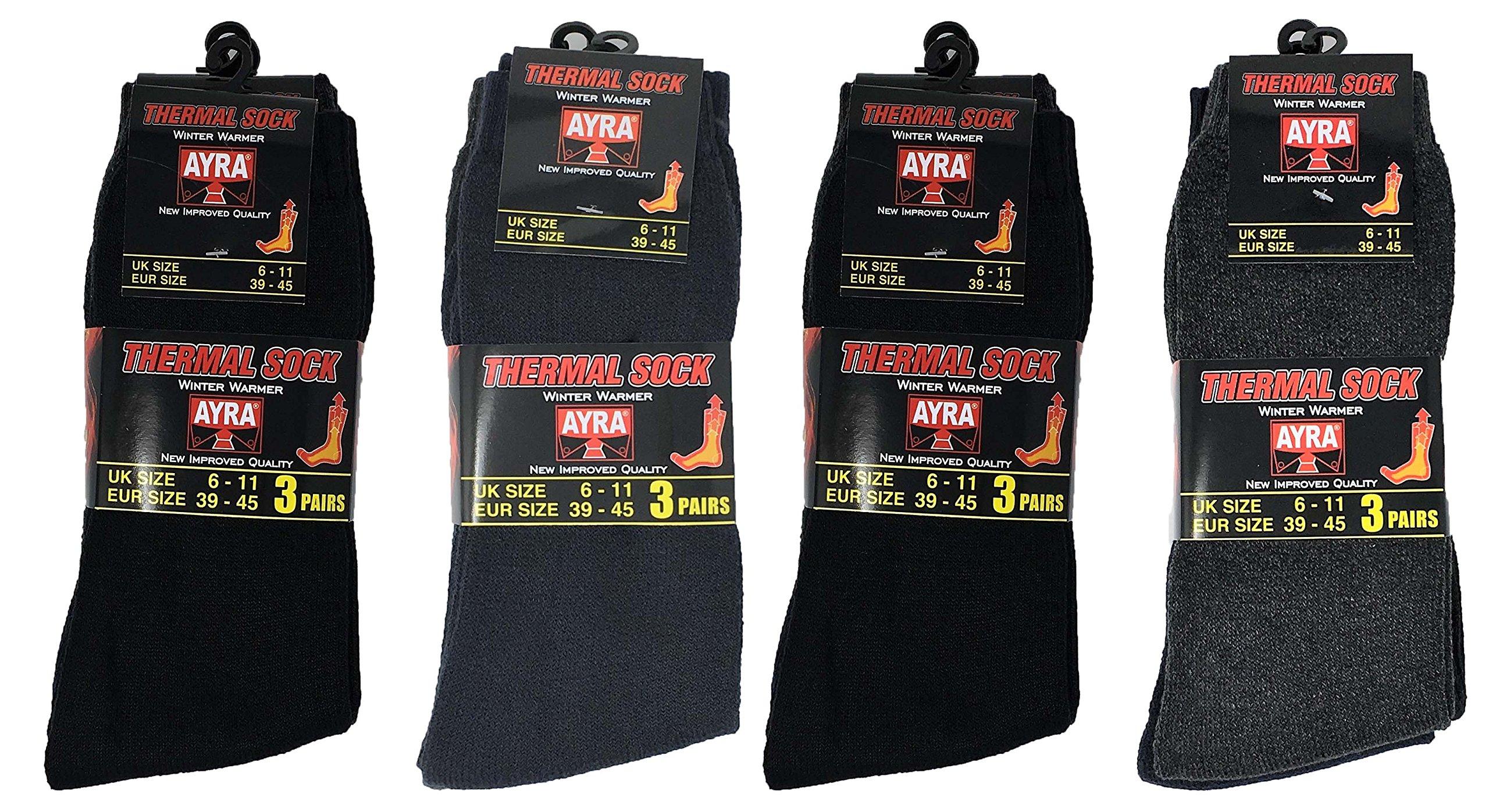 UK 6-11 2 Pairs of Mens Thermal Socks