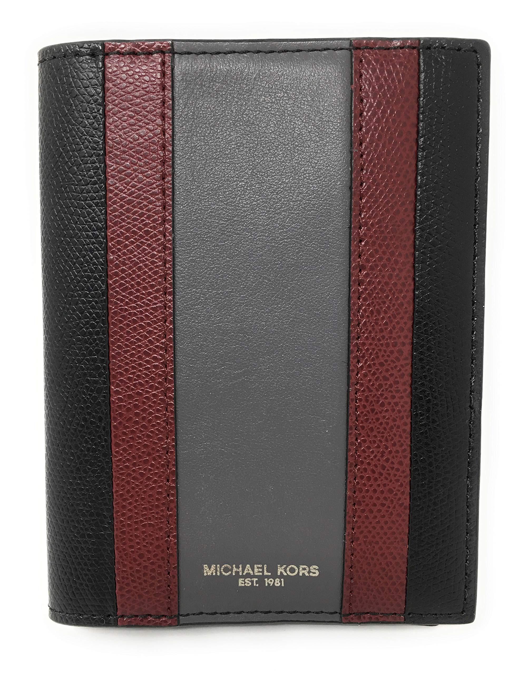 Michael Kors Warren Leather Passport Card Holder (Black)             by Michael Kors