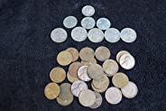 1 American Classics Coin Bag. A total of 34 Coins -- 5 Full Date Buffalo Nickels, 25 Unsearched Wheat Pennies, 3 Steel Cents