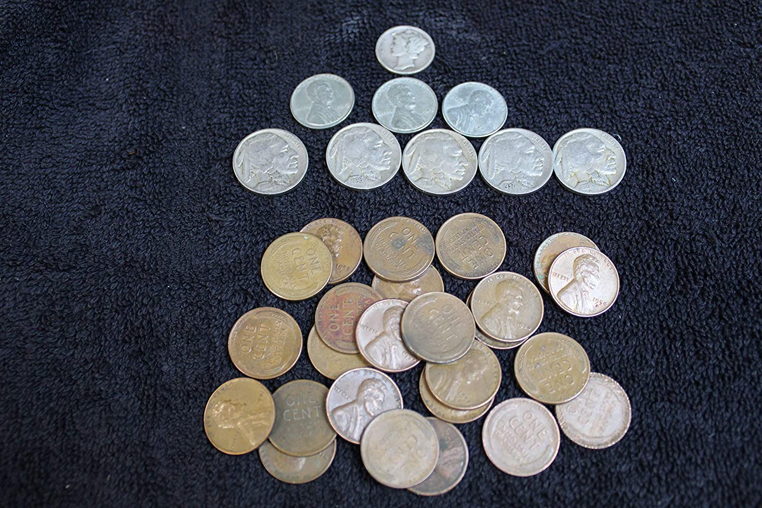 U.S 7 Coin Grab Bag Buffalo Nickels 7 Different Dates from 1913 to 1938 Nickel Circulated to Fine Indian Head