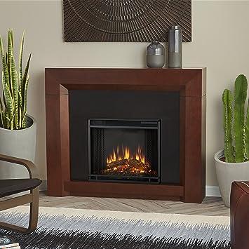 Real Flame 4001E DW 4001E Colton Electric Fireplace, Dark Walnut, Medium