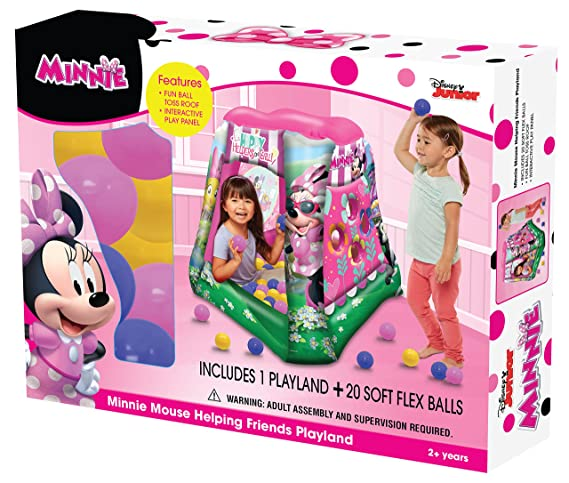 Amazon.com: Minnie Mouse Happy Helpers On Call Ball Pit, 1 Inflatable & 20 Sof-Flex Balls, Pink, 37