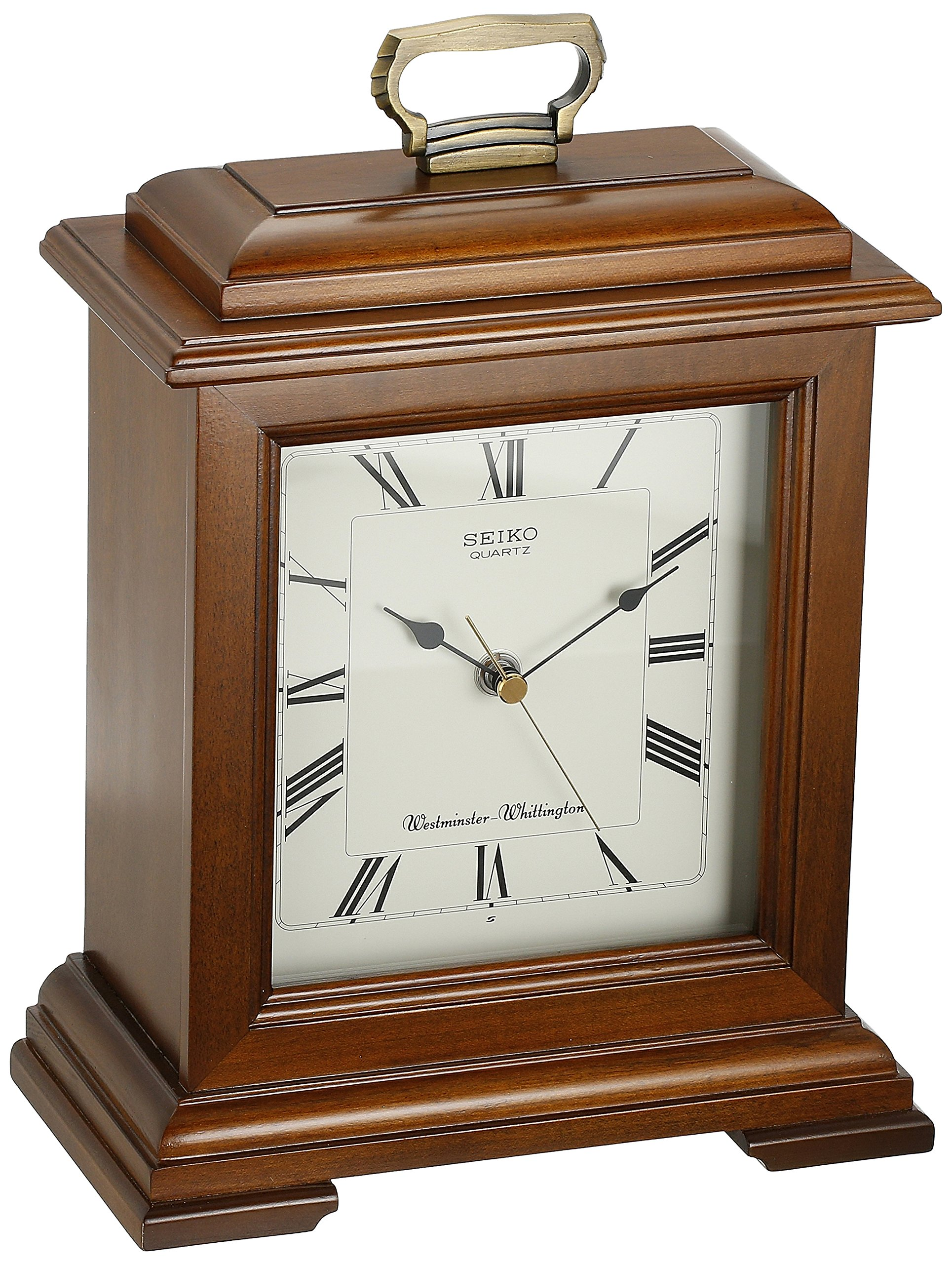 Seiko Mantel Chime Carriage Clock Cherry Finish Solid Wood Case by Seiko Watches