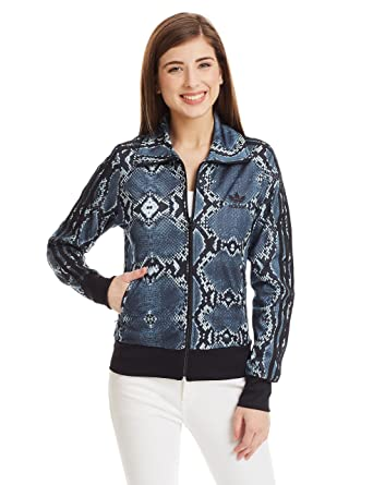 96abe160b0cd adidas Originals Women Snake Print Firebird Tracksuit Track Top Jacket (S M)